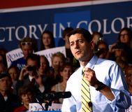 Rozpusta - Prezydent Kandydat Paul Ryan Obrazy Royalty Free