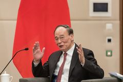 Rozpusta - prezydent republika Porcelanowy Wang Qishan obraz royalty free