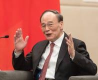 Rozpusta - prezydent republika Porcelanowy Wang Qishan zdjęcia stock