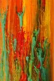 rozpuszczony abstrakcjonistyczni farb drukarskich Obrazy Stock