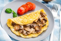 rozrasta się omelette Obraz Royalty Free
