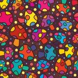Rozrasta się wiele kolorów mody bezszwowego wzór Obrazy Stock