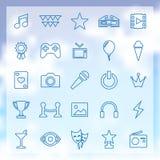 25 rozrywek ikon Zdjęcia Royalty Free