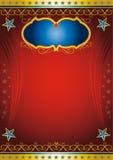 Rozrywka czerwony plakat Fotografia Stock
