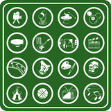 rozrywka hobby ikony Obrazy Royalty Free