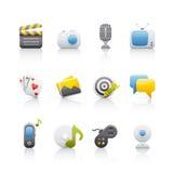 rozrywki ikony set Zdjęcie Stock