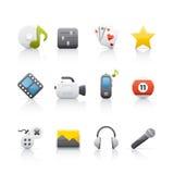 rozrywki ikony set Zdjęcia Stock