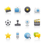 rozrywki ikony set Fotografia Stock