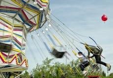 Rozrywkowa maszyna w Luna parku zdjęcia stock