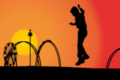 rozrywkowy ferris noc parka wektoru koło ilustracji