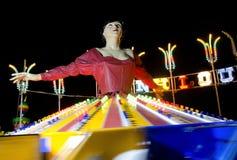rozrywkowy ferris noc parka wektoru koło Zdjęcia Royalty Free