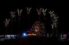 rozrywkowy ferris noc parka wektoru koło Zdjęcia Stock