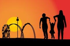 rozrywkowy ferris noc parka wektoru koło ilustracja wektor