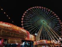 rozrywkowy ferris noc parka wektoru koło Obrazy Stock