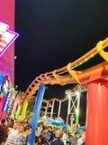 rozrywkowy ferris noc parka wektoru ko?o zdjęcie stock