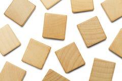 Rozrzuceni Scrable kwadraty zdjęcie royalty free