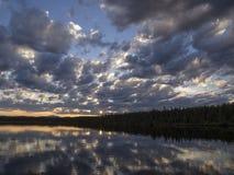 Rozrzucone wieczór chmury Obrazy Royalty Free