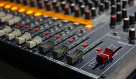 Rozsądny muzyczny melanżeru pulpit operatora Fotografia Royalty Free
