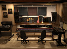 Rozsądny studio nagrań Zdjęcia Royalty Free