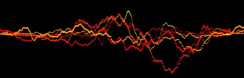 Rozs?dnej fali element Abstrakcjonistyczny czarny cyfrowy wyr?wnywacz Du?y dane unaocznienie Dynamiczny ?wiat?o przep?yw ?wiadcze royalty ilustracja
