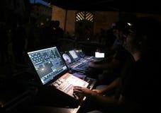 Rozsądny kontrola set przy muzycznym przedstawieniem Zdjęcie Royalty Free