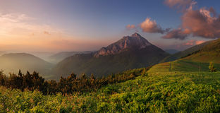 Rozsutec peak in sunset Stock Photo