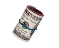 rozsypisk 100 dolarów Obrazy Stock