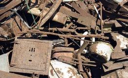 rozsypiska żelaza odpady Fotografia Royalty Free