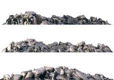 Rozsypiska gruz i gruzy odizolowywający na białej 3d ilustraci ilustracja wektor