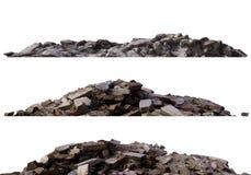 Rozsypiska gruz i gruzy odizolowywający na białej 3d ilustraci ilustracji