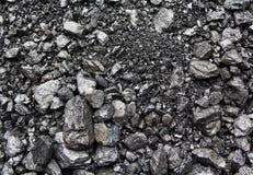 Rozsypiska minujący węgiel na powierzchni zdjęcie stock