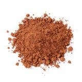 Rozsypisko świeży cacao proszek fotografia stock