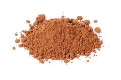 Rozsypisko świeży cacao proszek zdjęcie stock