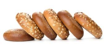 Rozsypisko bagels obrazy stock