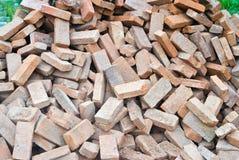 Rozsypisko Ceglanej budowy materiel dla budowy zdjęcie stock