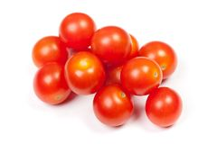 Rozsypisko czereśniowi pomidory Obrazy Stock