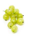 Rozsypisko dojrzała, świeża zbierająca zielona agrestowa owoc, Zdjęcia Stock