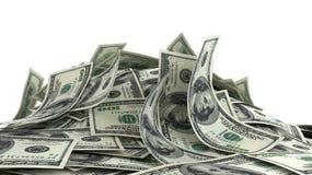 Rozsypisko Dolarowi rachunki royalty ilustracja