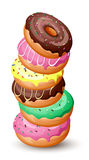 Rozsypisko donuts Fotografia Stock