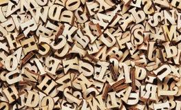 Rozsypisko drewniani angielscy listy obraz stock