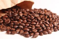 Rozsypisko kawowe fasole Obraz Stock