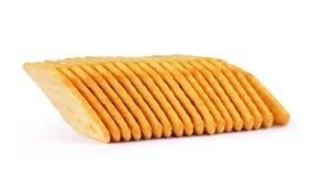 Rozsypisko krakers odizolowywający na białym tle Zdjęcie Stock