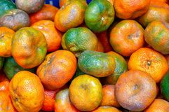 Rozsypisko mandarynek pomarańcze fotografia royalty free