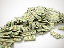 rozsypisko pieniądze Zdjęcia Stock