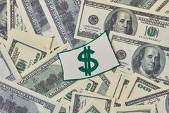 Rozsypisko pieniądze i dolarowy znak Obraz Royalty Free