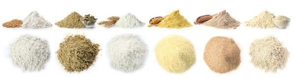 Rozsypisko Pszeniczna mąka obraz stock