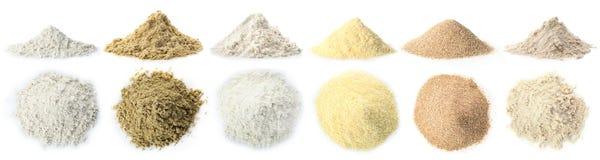 Rozsypisko Pszeniczna mąka zdjęcie stock
