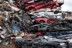 Rozsypisko samochody Zdjęcia Stock