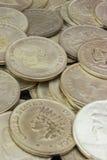 Rozsypisko stara brudna kolekcja monety dla sprzedaży Fotografia Royalty Free
