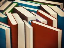 Rozsypisko stare książki w ciężkiej pokrywie Obraz Stock